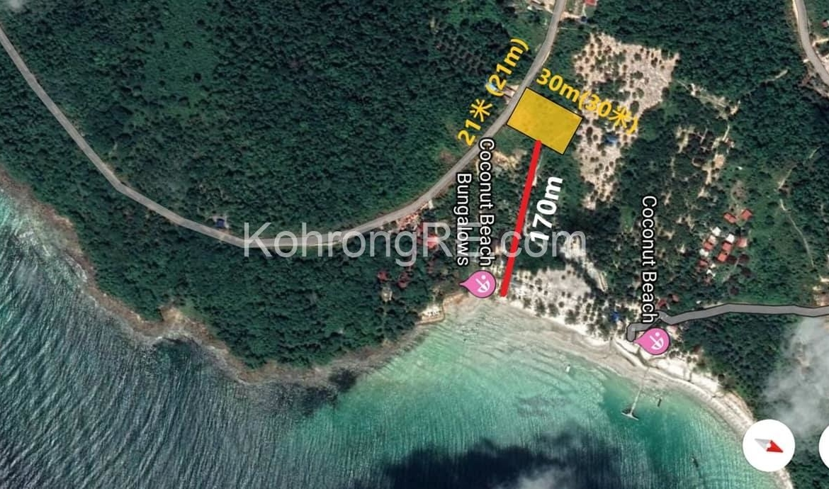 koh rong, coconut beach, land for sale