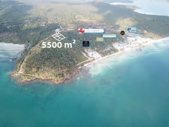Land for sale in Pagoda beach in Koh Rong island Cambodia