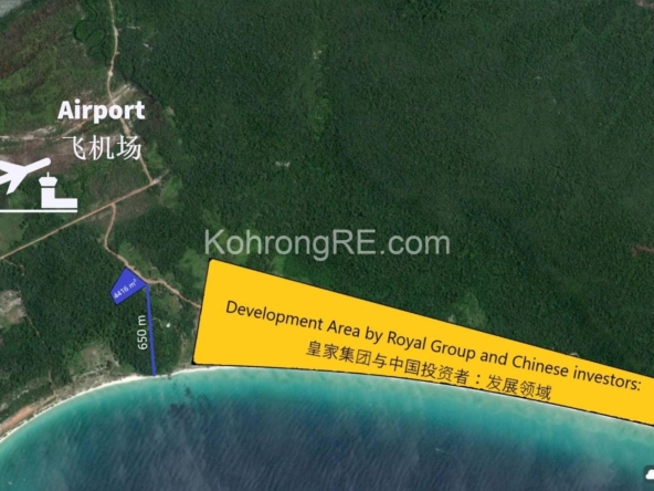 land for sale in Koh Rong near Royal beach long beach main road hard title hard card (1)