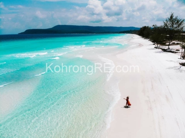 beachfront land for sale at Royal Beach in Koh Rong island, Cambodia, Hard title, white sand beach, Koh Rong property for sale, Koh Rong land for sale, Cambodia (3)