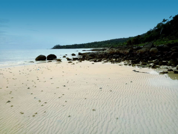 Sandy Beach Land for sale, beachfront land, Koh Rong Samloem, Cambodia, real estate property (3)